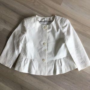 Worthington 100% Linen Blazer WHITE SIZE 8
